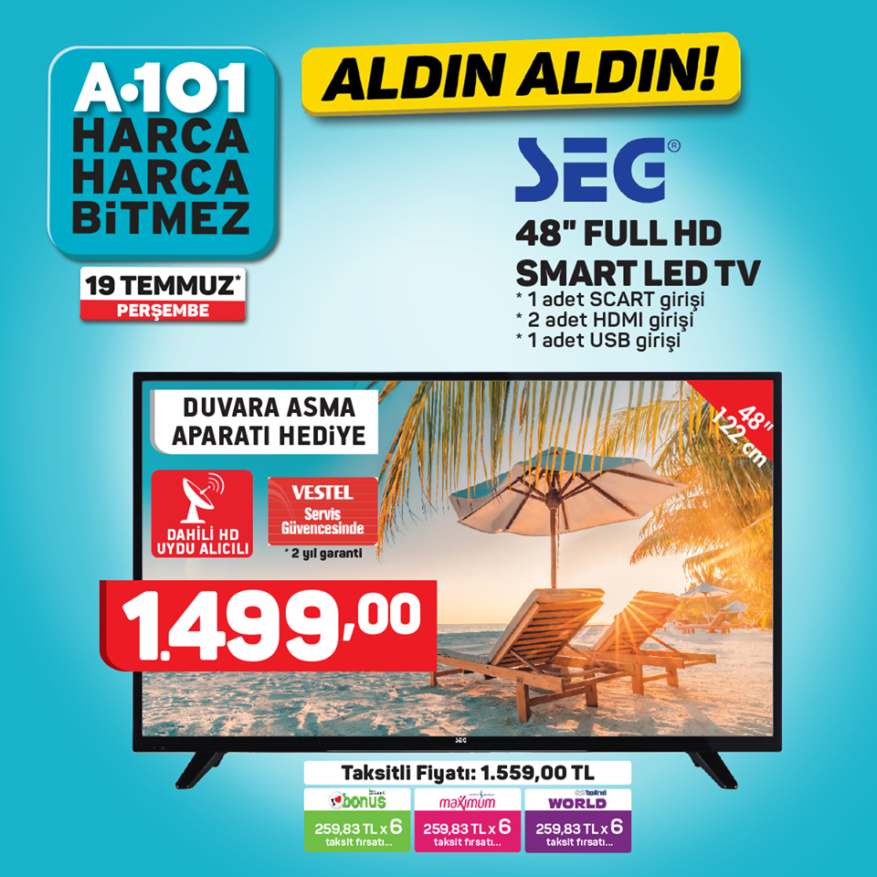 A101 SEG 48'' FULL HD SMART LED TV