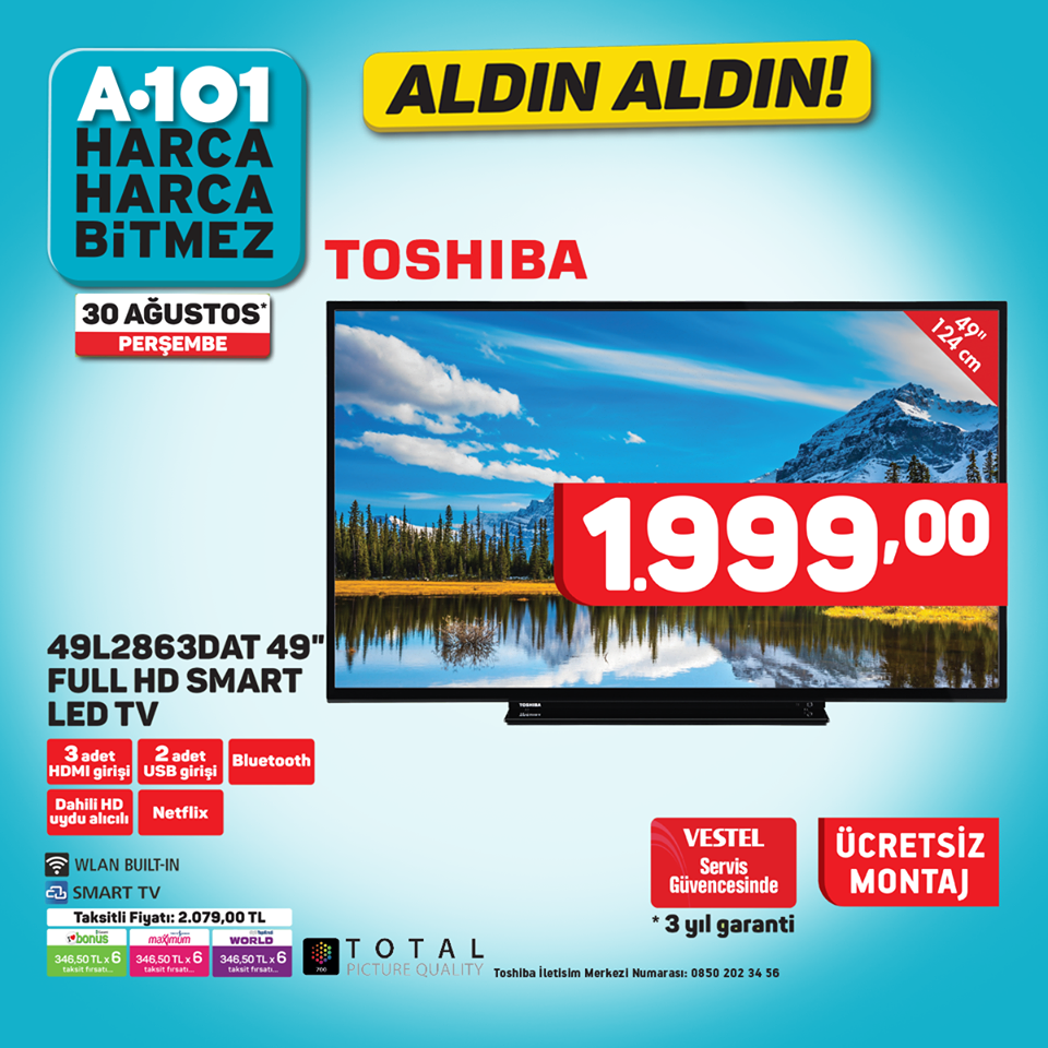 A101 Toshiba Full Hd Smart Led Tv
